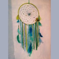 Attrape-rêve bleu turquoise